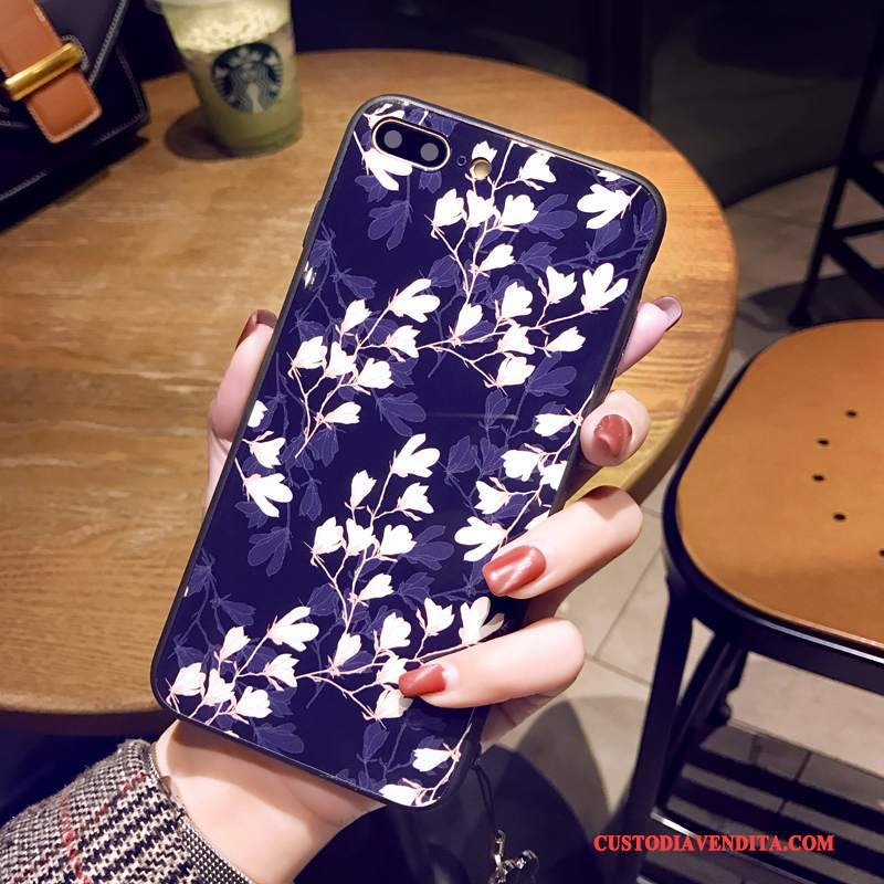 Custodia iPhone 8 Protezione Telefono Ornamenti Appesi, Cover iPhone 8 Blu Tendenza