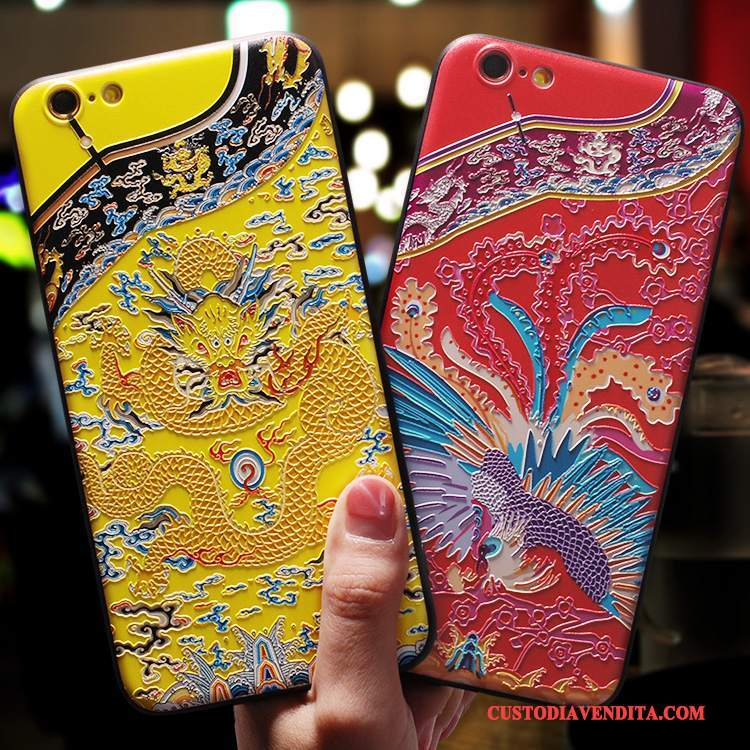 Custodia iPhone 8 Silicone Giallo Ornamenti Appesi, Cover iPhone 8 Tutto Incluso Tendenza