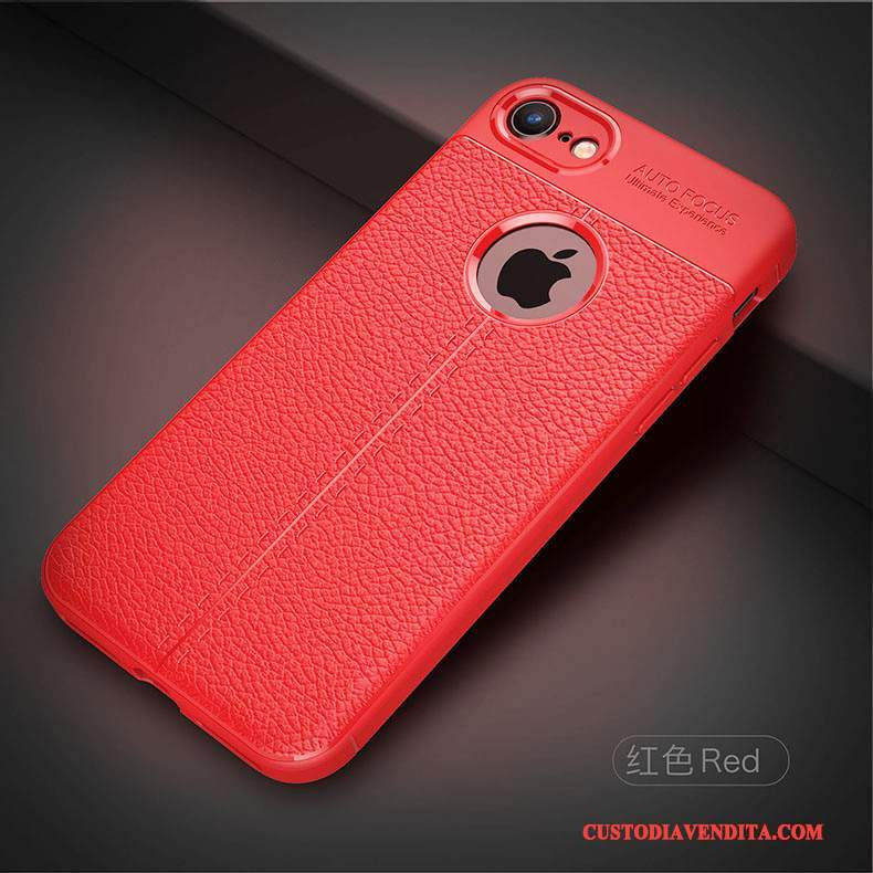 Custodia iPhone 8 Silicone Rosso Affari, Cover iPhone 8 Tutto Incluso Tendenza