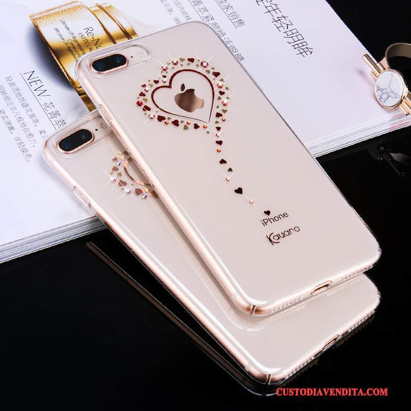 Custodia iPhone 8 Strass Nuovotelefono, Cover iPhone 8 Trasparente Tutto Incluso