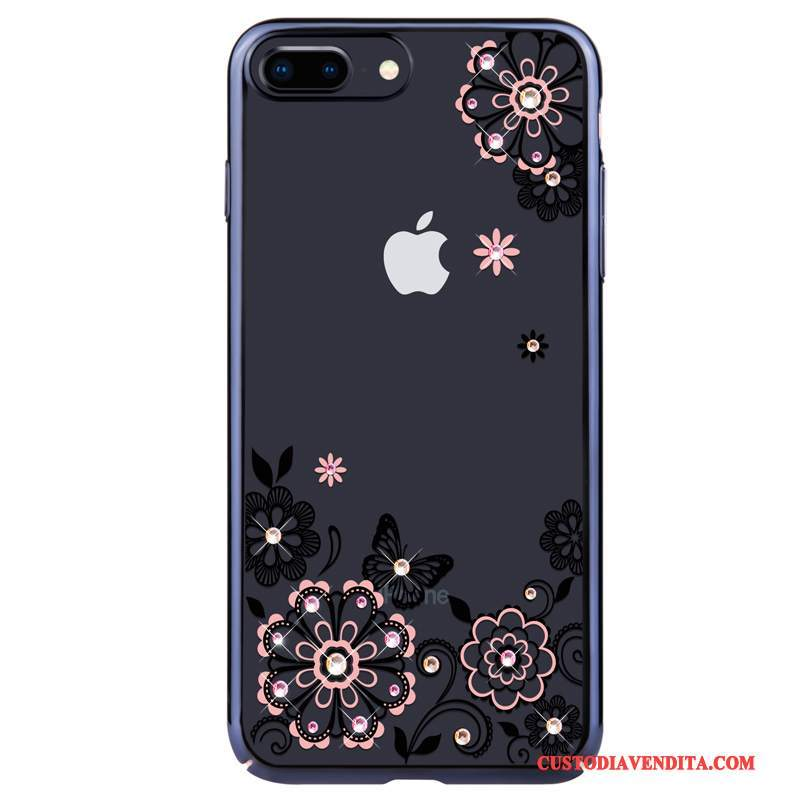 Custodia iPhone 8 Strass Tendenza Anti-caduta, Cover iPhone 8 Rosatelefono