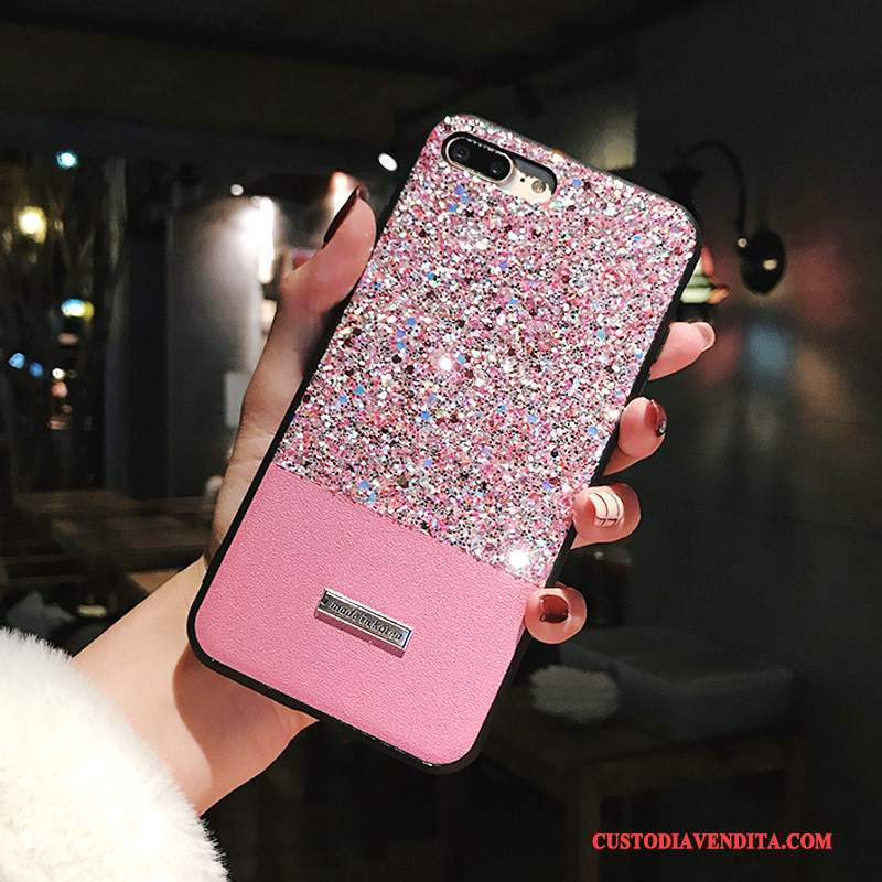 Custodia iPhone X Creativo Telefono Anti-caduta, Cover iPhone X Strass Colori Misti Rosa