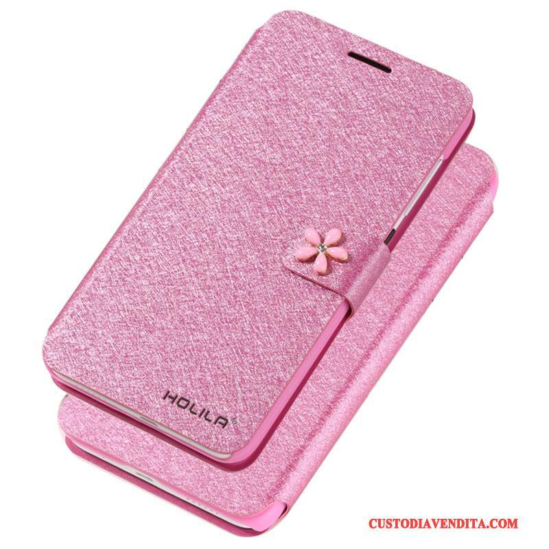 Custodia iPhone X Folio Rossotelefono, Cover iPhone X Pelle Anti-caduta