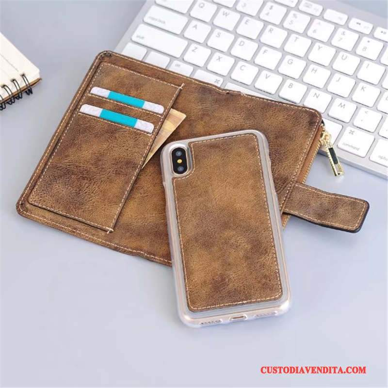 Custodia iPhone X Protezione Morbidotelefono, Cover iPhone X Pelle