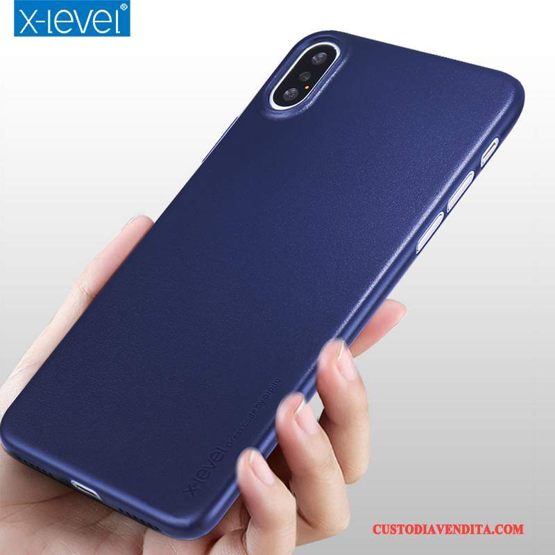 Custodia iPhone X Protezione Tutto Incluso Difficile, Cover iPhone X Telefono Blu