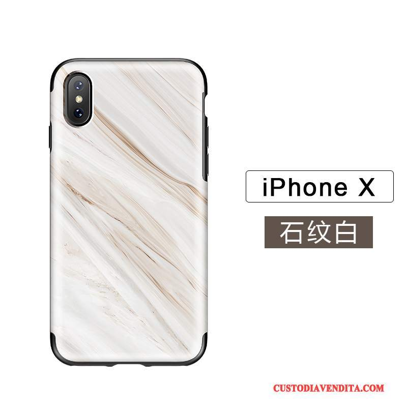 Custodia iPhone X Silicone Nuovotelefono, Cover iPhone X Zoccoli Tutto Incluso Qualità