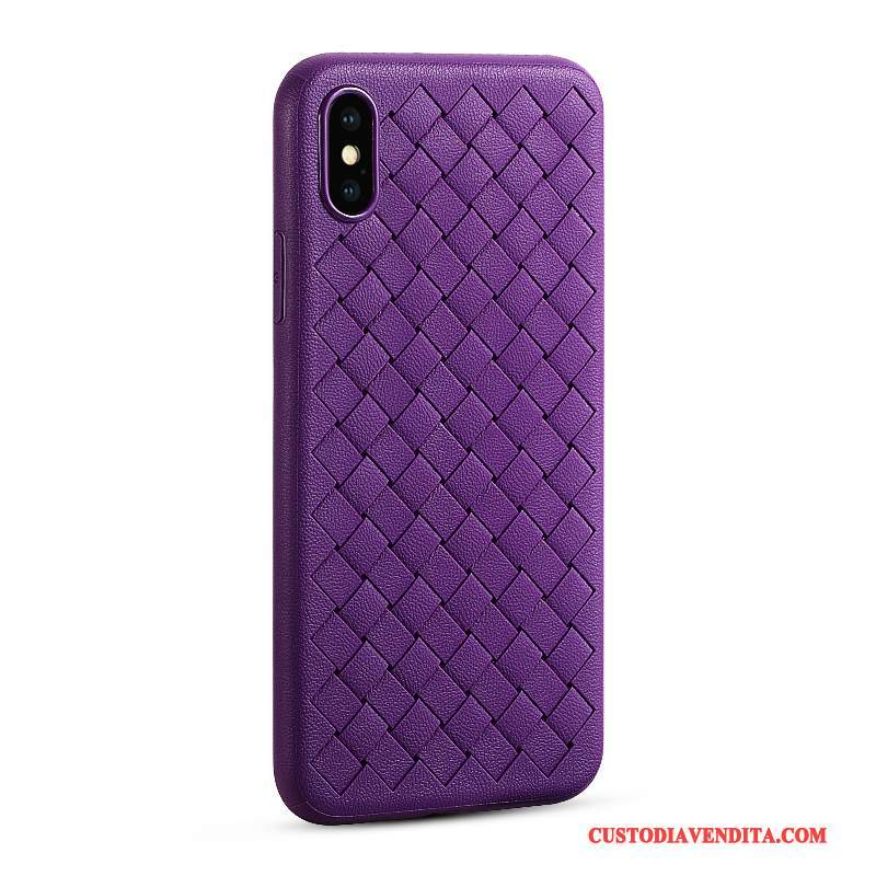 Custodia iPhone X Silicone Tutto Inclusotelefono, Cover iPhone X Pelle Affari Qualità