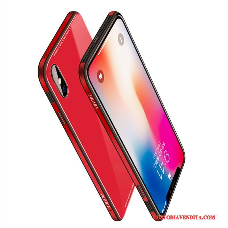 Custodia iPhone X Telefono Nuovo, Cover iPhone X Rosso Tutto Incluso