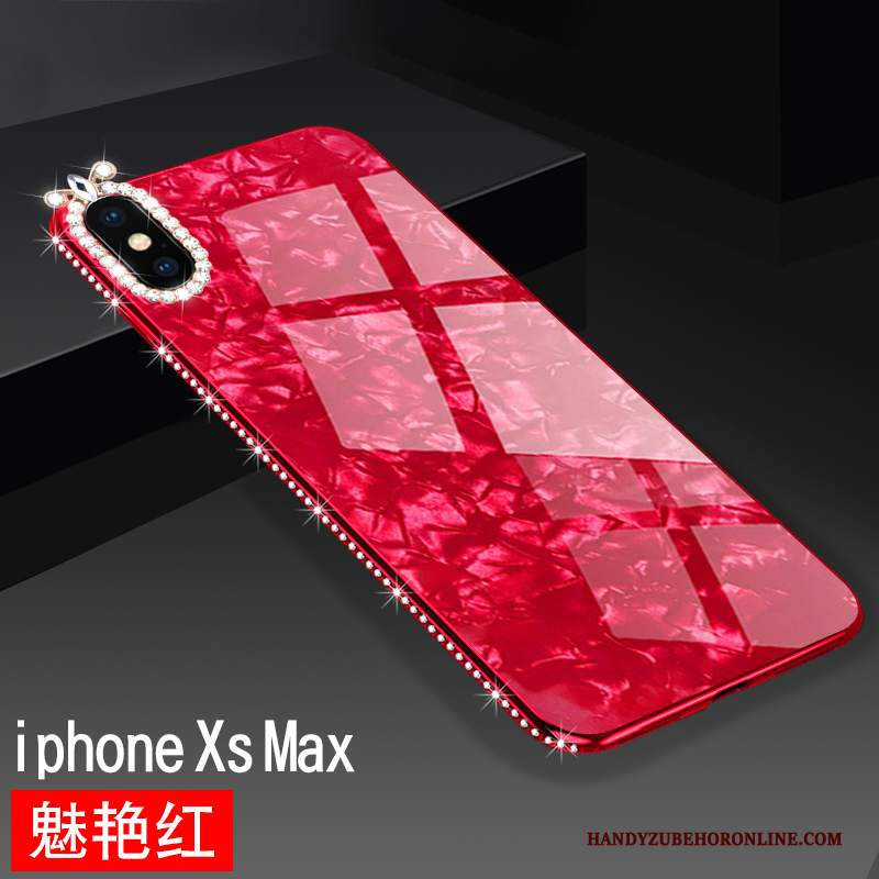 Custodia iPhone Xs Max Creativo Net Redtelefono, Cover iPhone Xs Max Silicone Marchio Di Tendenza Di Personalità