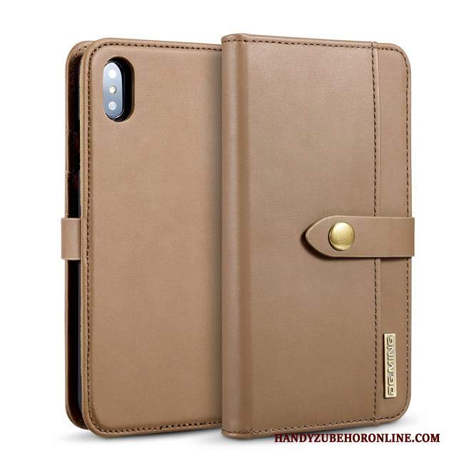 Custodia iPhone Xs Max Folio Carta Borse Carta, Cover iPhone Xs Max Pelle Telefono Nuovo