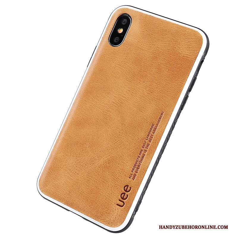 Custodia iPhone Xs Max Pelle Lusso Di Personalità, Cover iPhone Xs Max Creativo Naturalmente Tutto Incluso