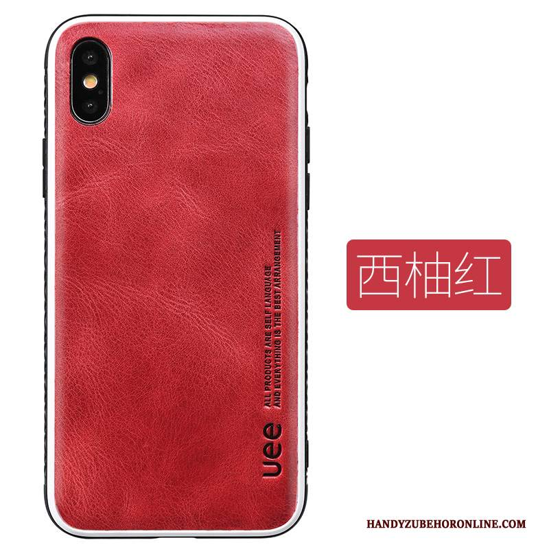 Custodia iPhone Xs Max Pelle Tendenza High End, Cover iPhone Xs Max Moda Elegante Grande