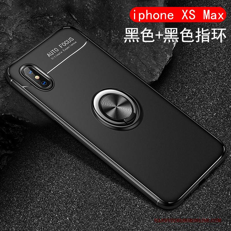 Custodia iPhone Xs Max Silicone Tutto Incluso Ring, Cover iPhone Xs Max Creativo Radiante Macchiati