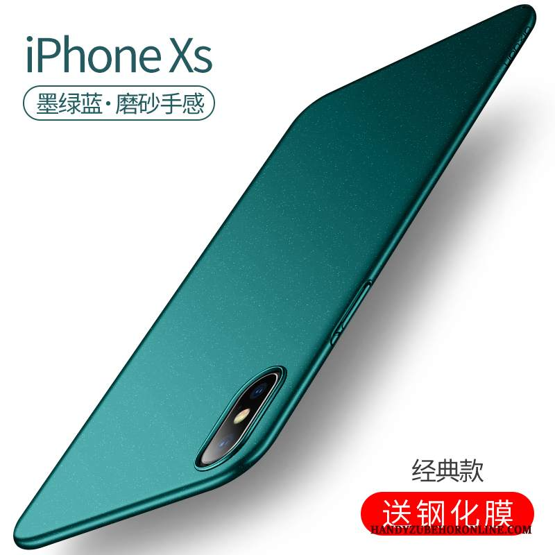 Custodia iPhone Xs Verde High End, Cover iPhone Xs Nuovo Magnetico